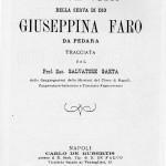 copertina libro -breve vita della serva di dio giuseppina faro -prof sac. Salvatore Gaeta - anno 1896